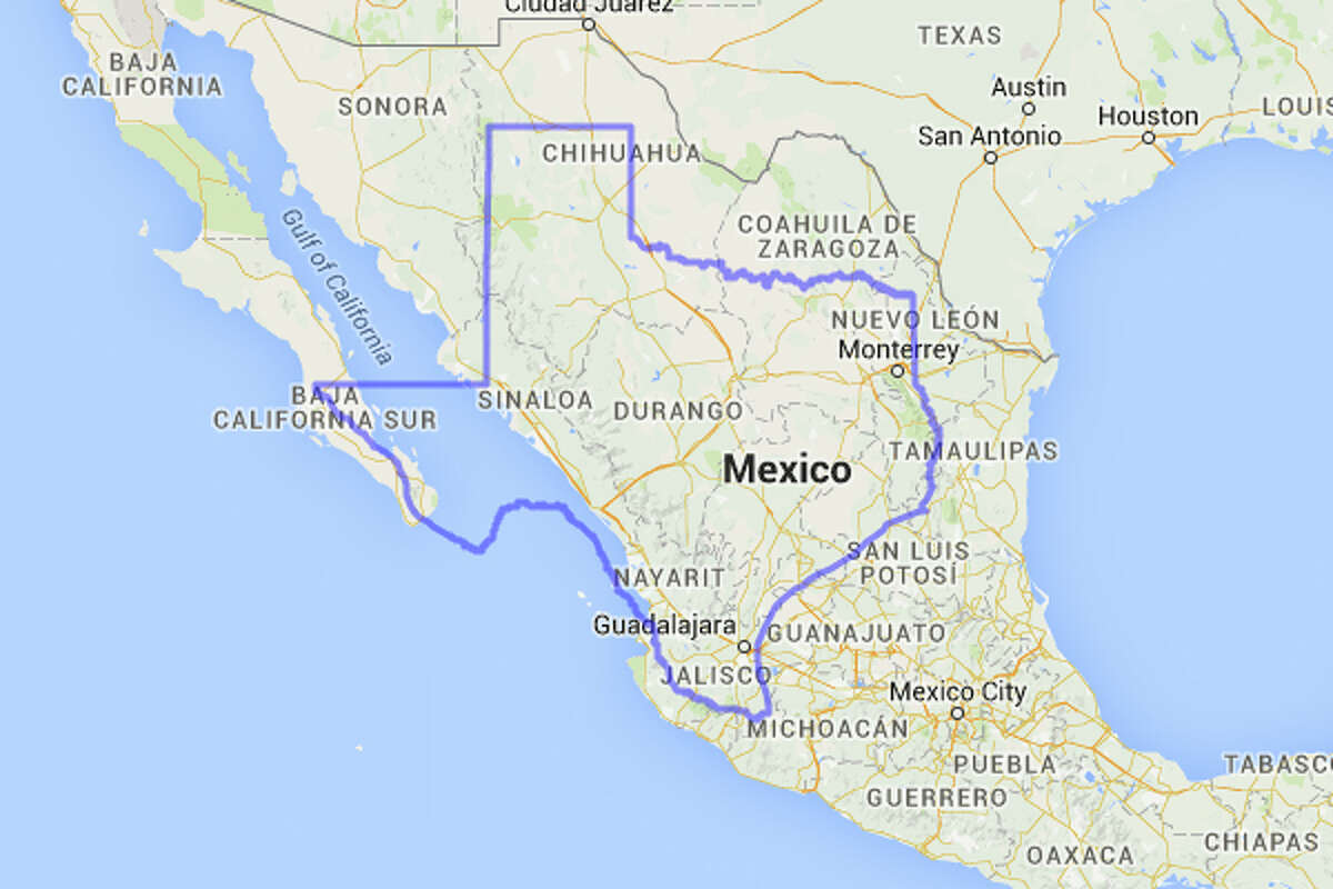 Mexico could fit a decent chunk of Texas on its land mass.