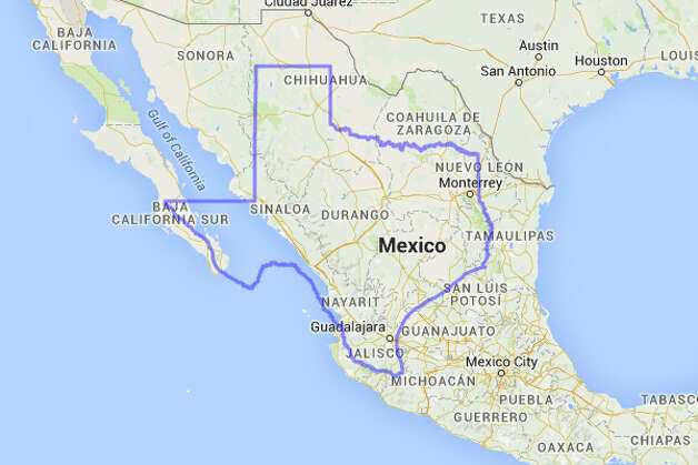 Mexico could fit a decent chunk of Texas on its land mass. Photo: MAPfrappe/Google Maps