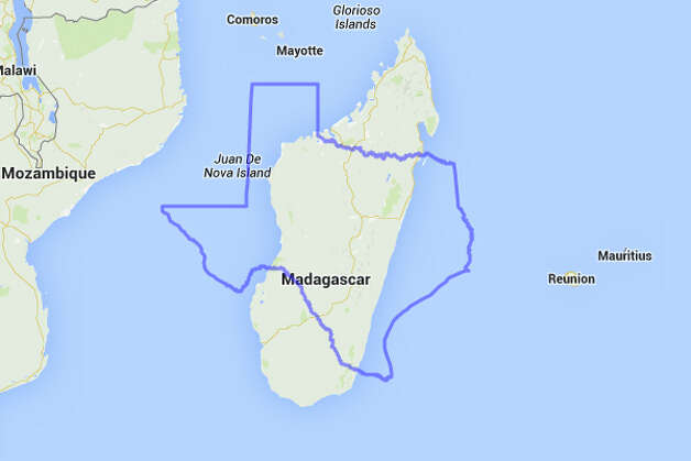 Texans might find themselves marooned with a bunch of kooky, computer animated animals if placed on Madagascar.  Photo: MAPfrappe/Google Maps