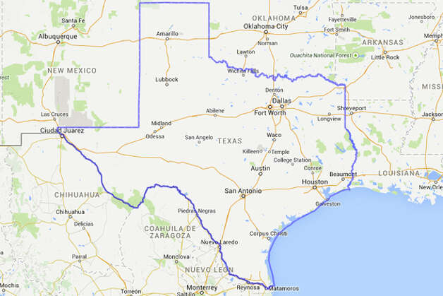 Ever wondered what the Texas would look like if you stuck it on top of another state or country? There's MAPfrappe for that. The online tool designed by Kelvin Thompson allows users to draw outlines on a Google map and drag the outline over anything on Earth.  Photo: MAPfrappe/Google Maps