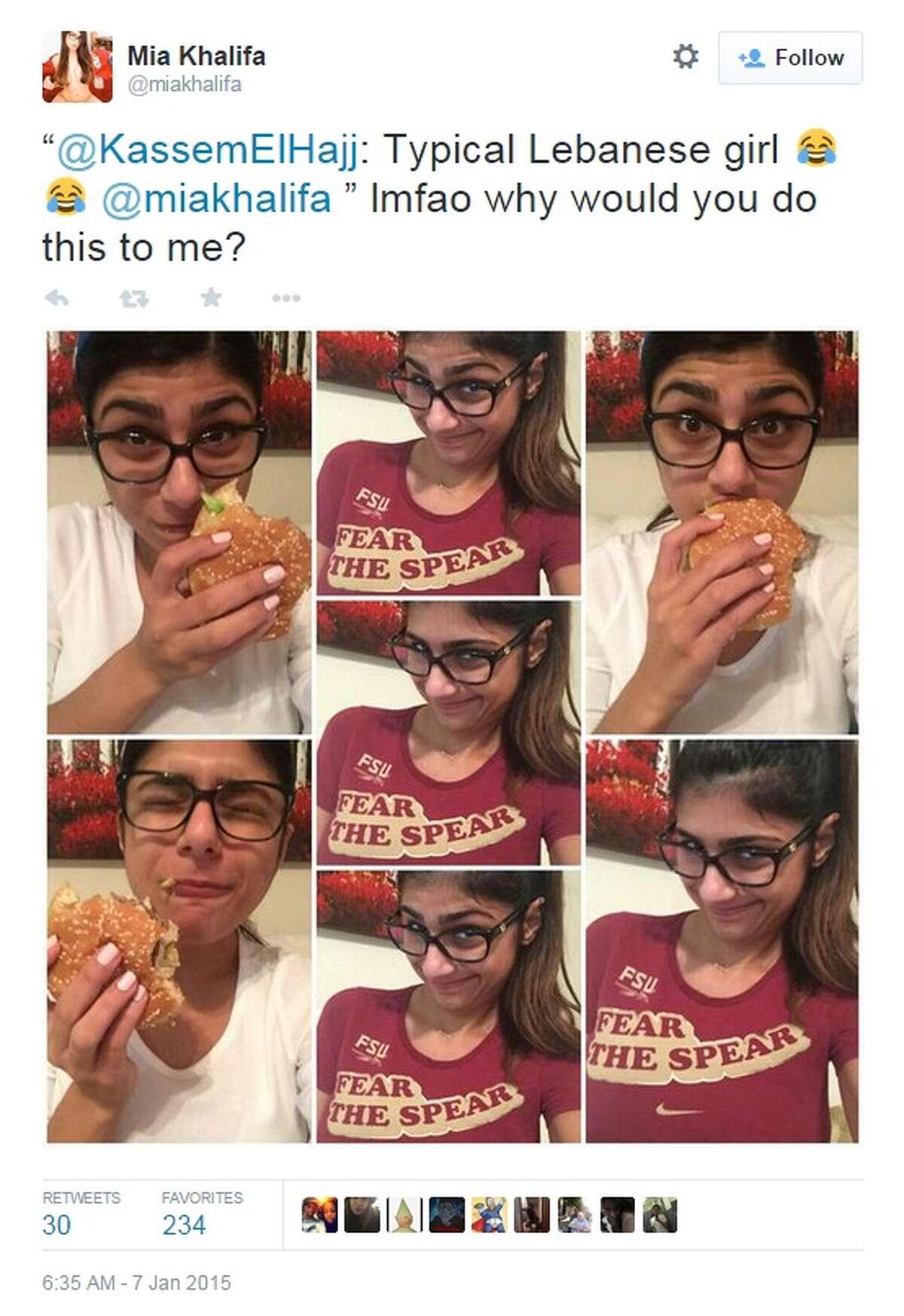 Photos from Mia Khalifa's Twitter.