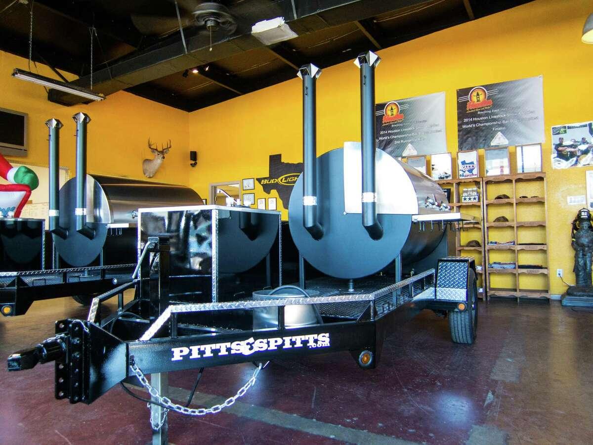 A barbecue trailer at Pitt's & Spitt's.