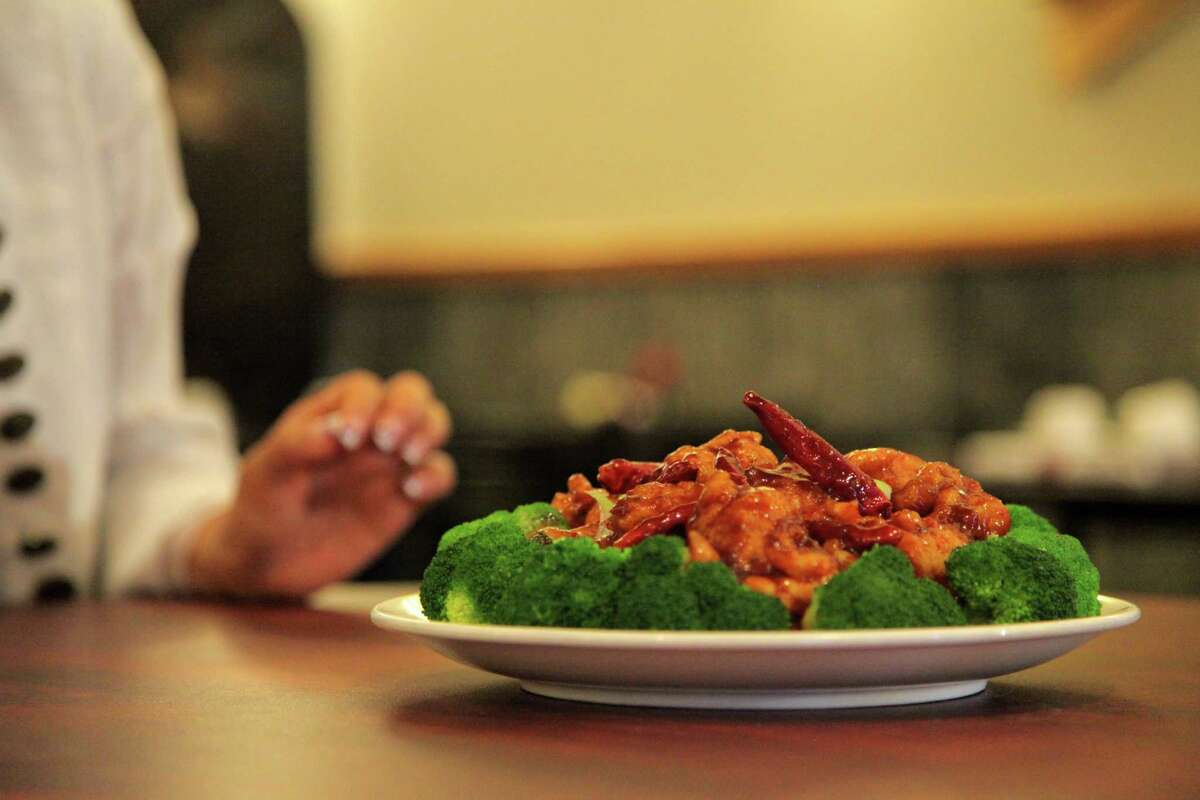 General Tso's Chicken Sweet, deep fried chicken dish often served with veggies or rice.