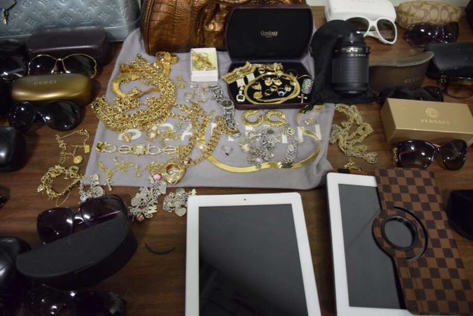 More than $60,000 in stolen property was recovered Thursday morning following a months-long investigation into vehicle burglaries on the Northwest Side. Photo: Mark D. Wilson/San Antonio Express-News