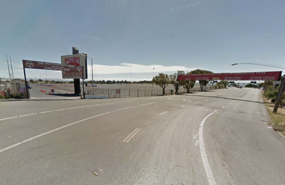 A young man was killed near Candlestick Park on Thursday. Photo: Google Maps