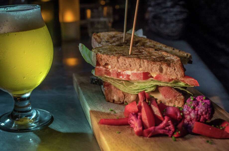 The Red Hawk BLT with a glass of Er Boqueron Sea Water Ale. Photo: John Storey / Special To The Chronicle / ONLINE_YES