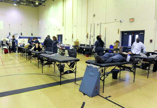 Albany High School held a blood drive on Thursday Jan. 8, 2015 in Albany, N.Y. (Michael P. Farrell/Times Union) Photo: Michael P. Farrell / 00030099A