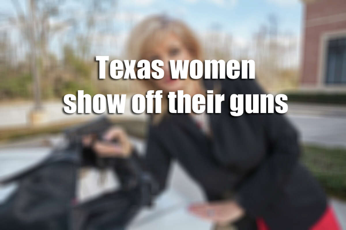Texas women show off their guns Houston photographer Shelley Calton sought to photograph Texas women with some of their most prized possessions, the handguns they use for personal protection in public and in their inner sanctums. They were captured Kerrville, Austin, San Antonio, League City, and Conroe. Some live in the Heights and Montrose neighborhoods in Houston. Calton found 80 women for her photo series, titled