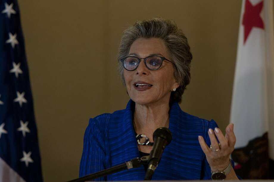 Barbara Boxer answers questions from reporters during a press conference on Friday, September 5, 2014 in San Francisco, Calif. Photo: Jessica Christian, The Chronicle