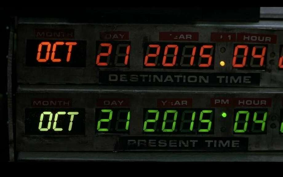 "Remember when the arrival of 2015 was inconceivable? Well, now it's here. The ""future,"" according to ""Back to the Future Part II.""It's the year that astronaut of time Doc Brown visited from 1985 to study what's to come at the end of the first ""Back to the Future."" Then, opening the first sequel, released in 1989, Doc comes back to warn Marty McFly (Michael J. Fox) about his delinquent son. Unintentional ruptures to the space-time continuum ensue, prompting Doc and Marty to bounce between 1985, 2015 and 1955 to restore order.So now that it's the future, what did ""Back to the Future"" get right? And then wrong?Let's start with what doesn't exist. Photo: Universal Studios"