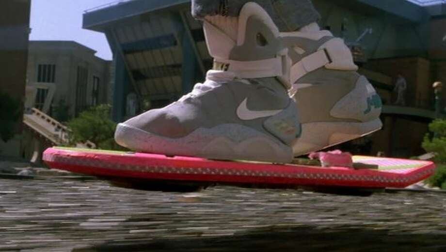 "The Hoverboard first rode into American pop culture in ""Back to the Future."" Photo: Universal Studios"