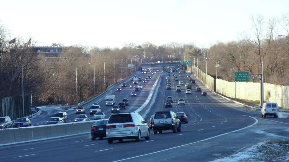Gov. Dannel Malloy emphasized mass transit investments and proposed widening Interstate 95 and major upgrades to exit ramps to keep traffic moving at speed as commuters and trucks merge on and off the highway. Photo: Alexander Soule / Stamford Advocate