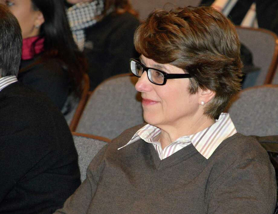 Maxine Bleiweis, exeutive director of the Westport Library, drew increasing numbers of patrons of all ages to the library  --- and not only for access to books. Photo: Jarret Liotta, File Photo / Westport News contributed