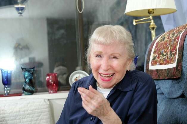 Marian Glass on Tuesday Dec. 23, 2014, at her apartment in Albany, N.Y. Glass is a vivacious ballroom dancer and self-published lifestyle guru. (Cindy Schultz / Times Union) Photo: Cindy Schultz / 00029909A
