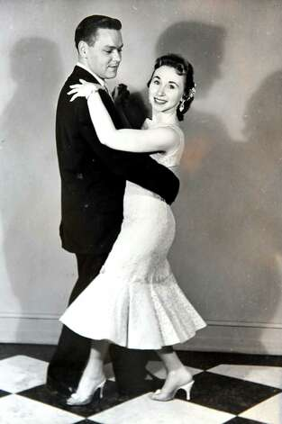 Copy of a photo from 1957 of Marian Glass and her ballroom dance partner. (Cindy Schultz / Times Union) Photo: Cindy Schultz / 00029909A