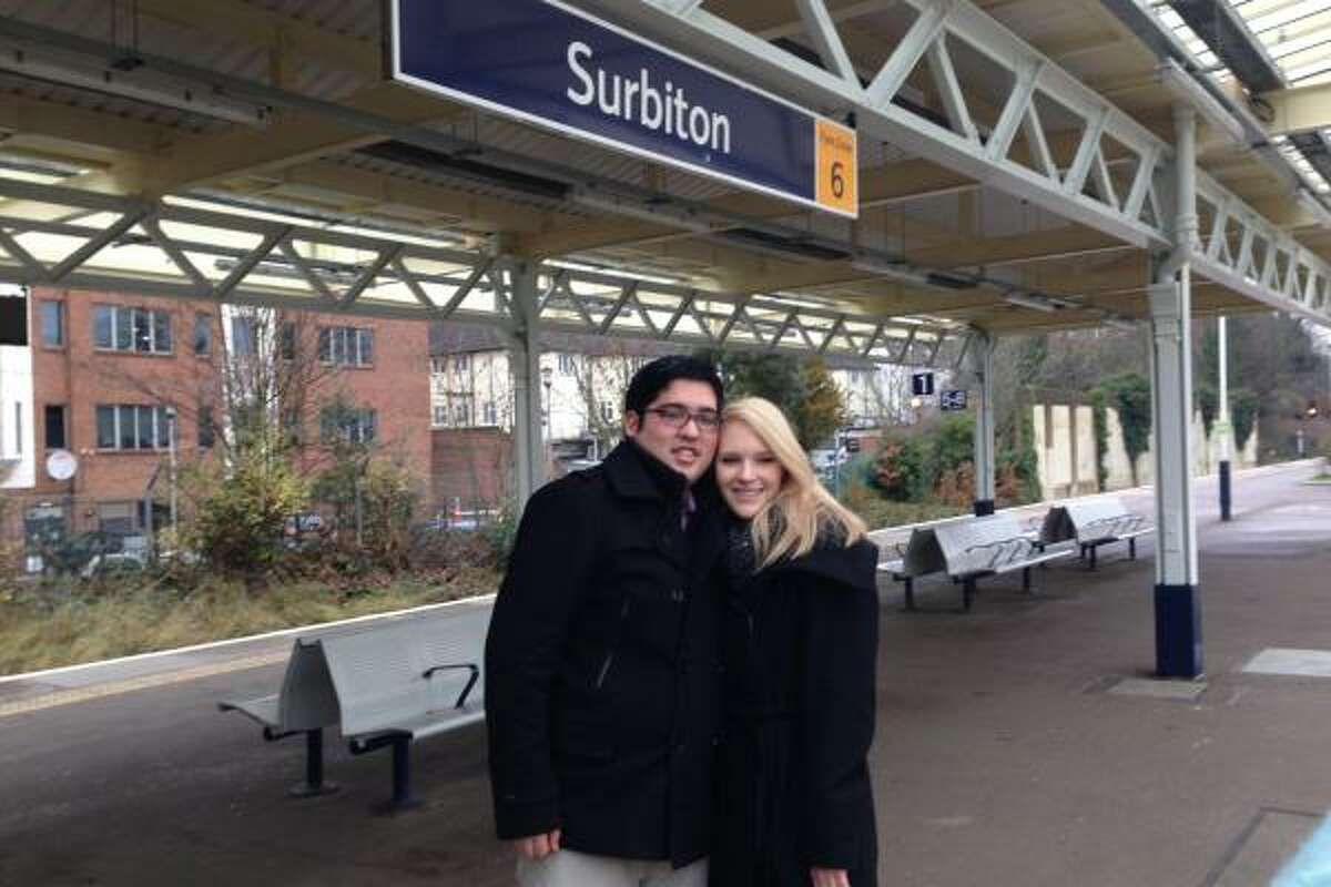 Samuel Goetsch of Houston proposed Jan. 4, 2015, to girlfriend Stephanie Dodd, a Harry Potter fan, at an England train station used in the Potter movie,