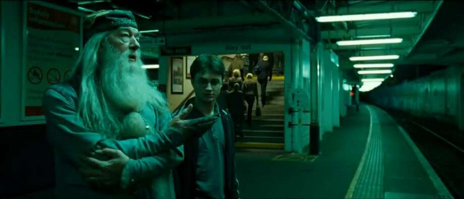 "Surbiton train station in the United Kingdom, as seen in ""Harry Potter and the Half-Blood Prince."" Photo: Warner Bros. Pictures"