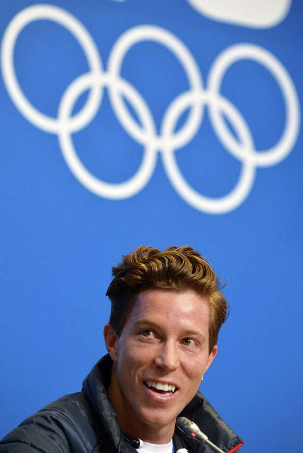 "US snowboarder Shaun White speaks during a press conference at Gorky Media Center the Rosa Khutor Alpine Centre on February 5, 2014. White admitted on February 3 that Sochi's daunting slopestyle course which has already claimed two injury victims presented an ""intimidating"" challenge.  AFP PHOTO / ALBERTO PIZZOLIALBERTO PIZZOLI/AFP/Getty Images Photo: ALBERTO PIZZOLI / AFP/Getty Images / AFP"