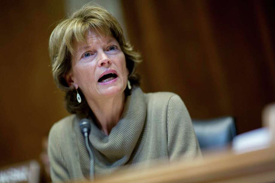 "Senator Lisa Murkowski, R-Alaska, says her Capitol Hill colleagues will ""push back against an administration that has taken a look at Alaska and decided it is a nice little snow globe."" (Photographer: Andrew Harrer/Bloomberg) Photo: Andrew Harrer / © 2015 Bloomberg Finance LP"