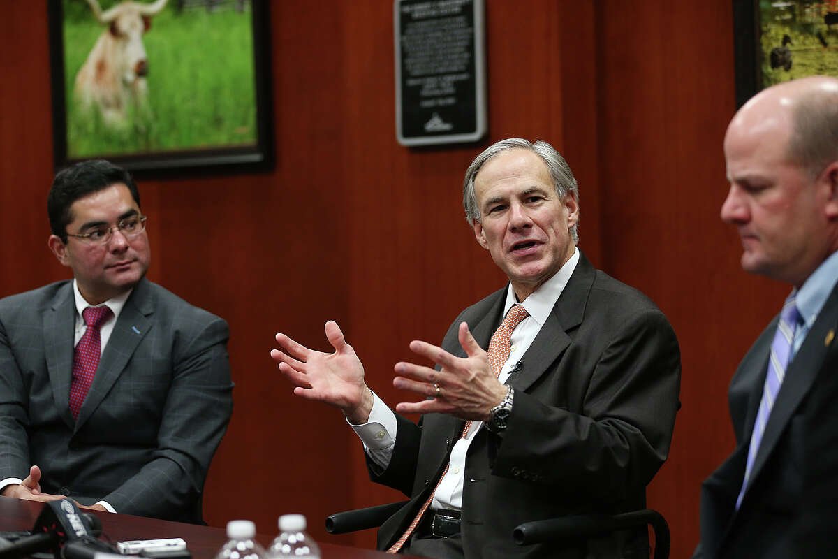 Gov.-elect Greg Abbott on Thursday took aim at local regulations affecting tree cutting, plastic bags and fracking, saying that they are contrary to his vision for the state.