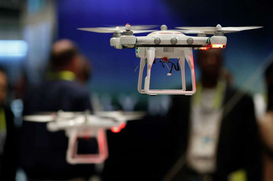 Drones fly at the Autel booth during the International CES. More than 20 companies are showing off dozens of different models. Photo: John Locher /Associated Press / AP
