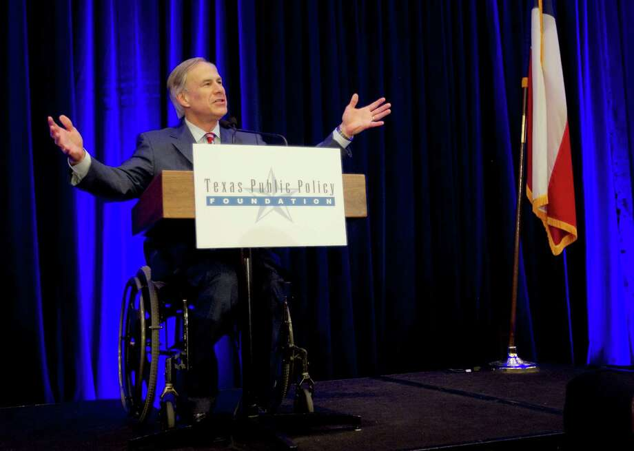 Gov.-elect Greg Abbott lists his policy priorities to influential conservatives at the Texas Public Policy Foundation's legislative orientation Thursday in Austin. Photo: Laura Skelding, Austin American-Statesman / Austin American-Statesman