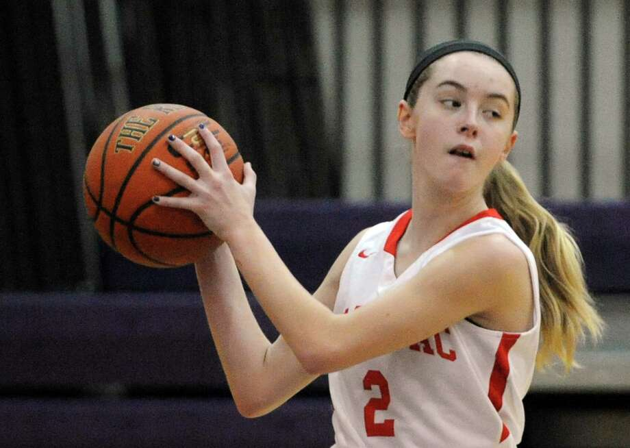 Tamarac eighth-grade guard Emily Erickson during their girl's high school varsity game against Kingston on Saturday Dec. 27, 2014 in Amsterdam, N.Y. (Michael P. Farrell/Times Union) Photo: Michael P. Farrell / 00029995A