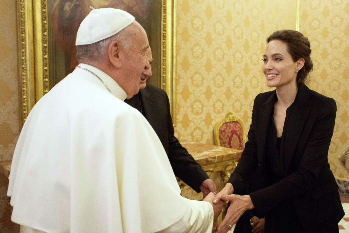 Pope Francis took time to meet with actress and director Angelina Jolie. A few Vatican officials, ambassadors and a United Nations special envoy screened Jolie's film