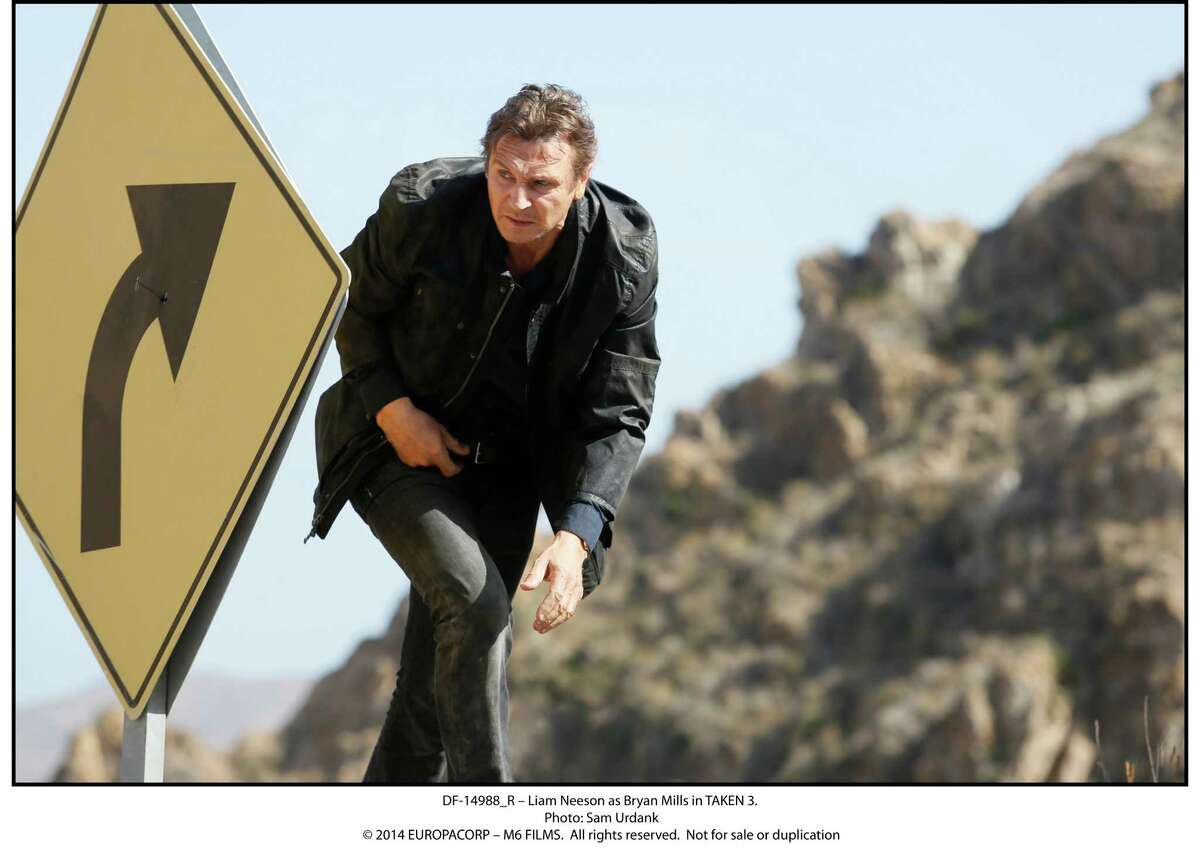 Liam Neeson, above, again plays Bryan Mills in