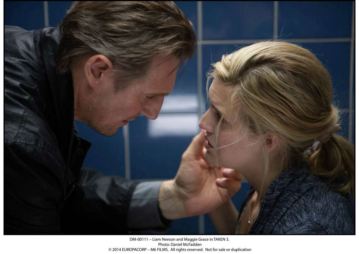 """Liam Neeson and Maggie Grace reprise their roles of father and daughter in """"Taken 3."""""""