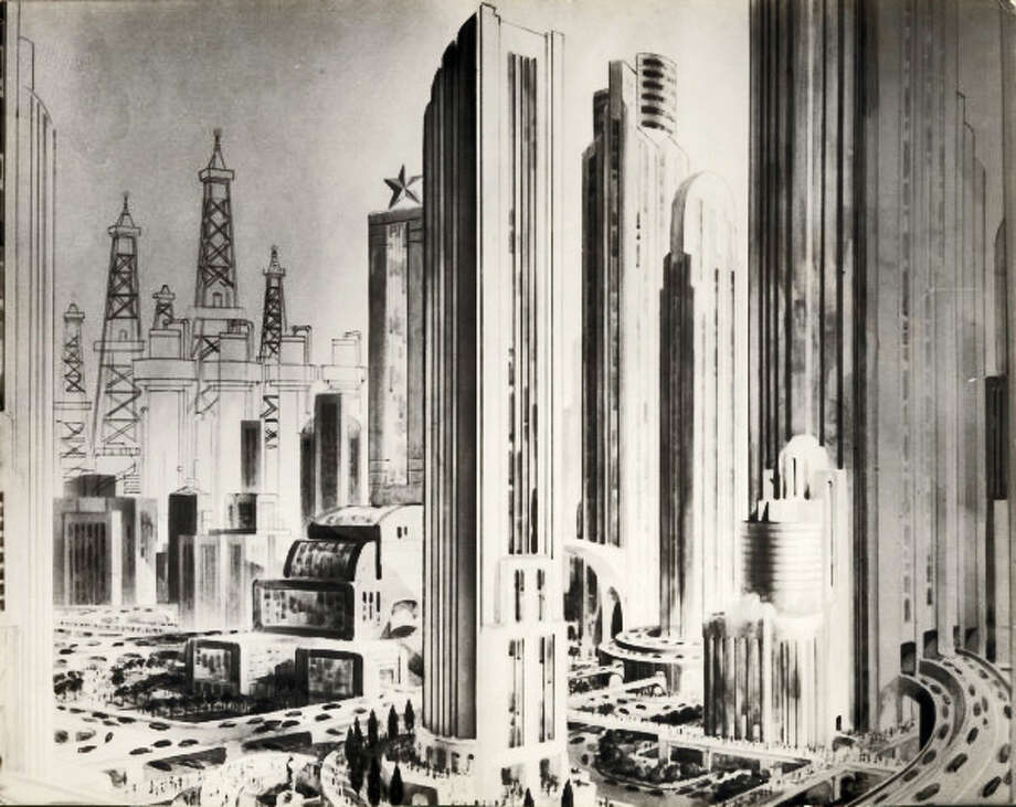 PHOTOS: Blueprints from Houston's future of the past Architects have always had big plans for Houston's future. Not all of these plans ever made it to the city's skyline, though. Some lofty ideas from the past  fizzled due to lofty goals or lack of funds. Imagine Houston's downtown with oil derricks in the distance.See more photos of the Houston that never quite was...