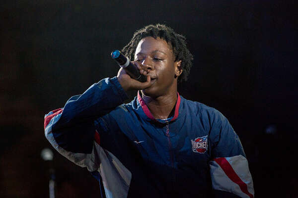 NEW ORLEANS, LA - OCTOBER 28:  Joey Bada$$ performs at House of Blues on October 28, 2014 in New Orleans, Louisiana.  (Photo by Josh Brasted/Getty Images)