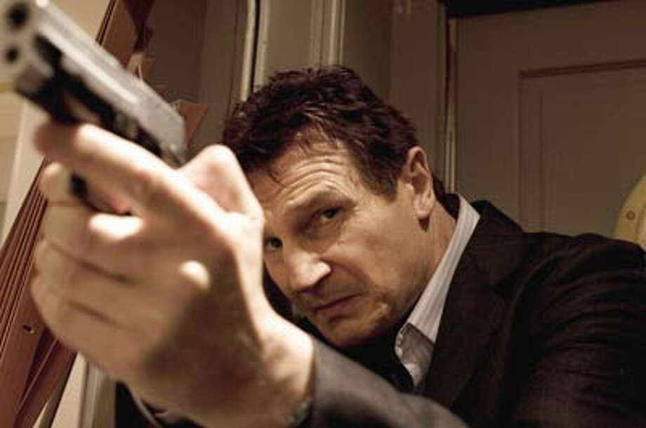 "An actor who plays so many shoot-em-up guys in films such as ""Taken"" has little room to criticize gun violence Photo: /20Th Century Fox / © 2008 EUROPACORP ¿ M6 FILMS - GRIVE PRODUCTIONS.  All rights reserved. Not for sale or duplication."