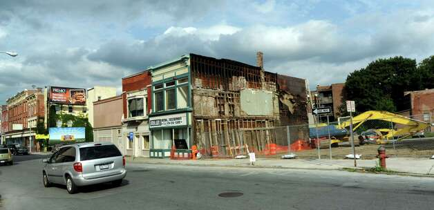 August 2013 photo of site of building demolitions on King Street in Troy, N.Y.  (Cindy Schultz / Times Union archive) Photo: Cindy Schultz / 00023469A