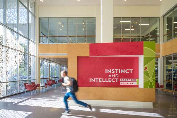 The San Jacinto College Lee Davis Library is a finalist in the heritage category of the 2015 Urban Land Institute Development of Distinction Awards.
