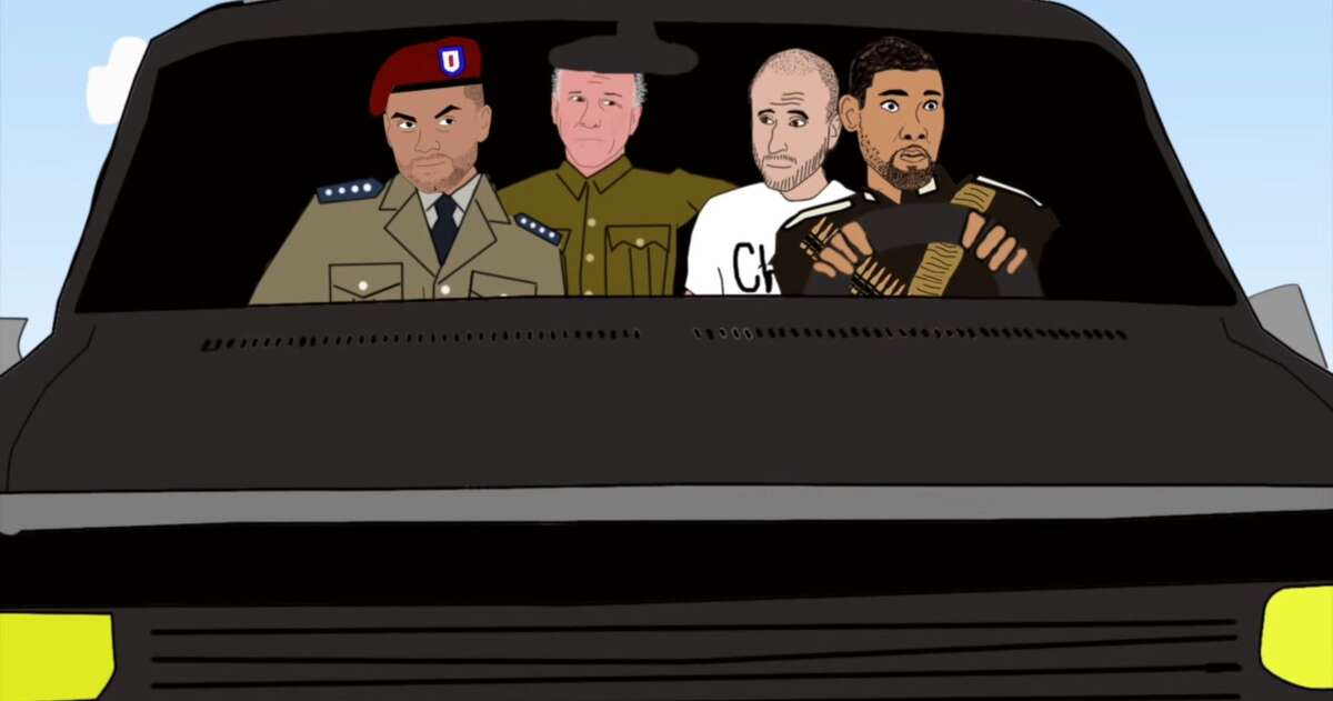 """An animated video created by an economics lecturer in California reimagines the San Antonio Spurs and coach Gregg Popovich as members of a """"crack international commando unit"""" that """"survive as soliders of fortune and on their million-dollar salaries."""""""