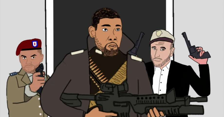 "An animated video created by an economics lecturer in California reimagines the San Antonio Spurs and coach Gregg Popovich as members of a ""crack international commando unit"" that ""survive as soliders of fortune and on their million-dollar salaries."" Photo: Matt Hill"