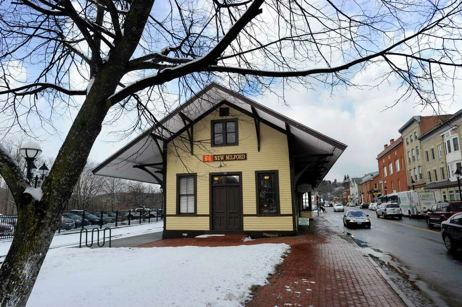 New Milford's old train station on Railroad Street, now houses the New Milford Chamber of Commerce. Friday, January 9, 2015. Photo: Carol Kaliff / The News-Times