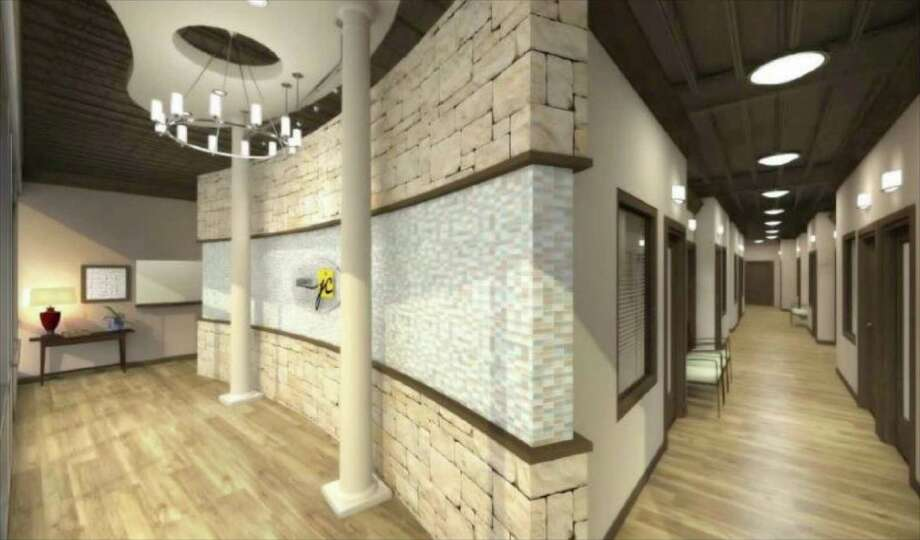 The above rendering shows what Salons by JC, a multi-tenant salon suites concept,  will look like when the business opens its doors next month. Photo: Contributed Photo / The News-Times Contributed