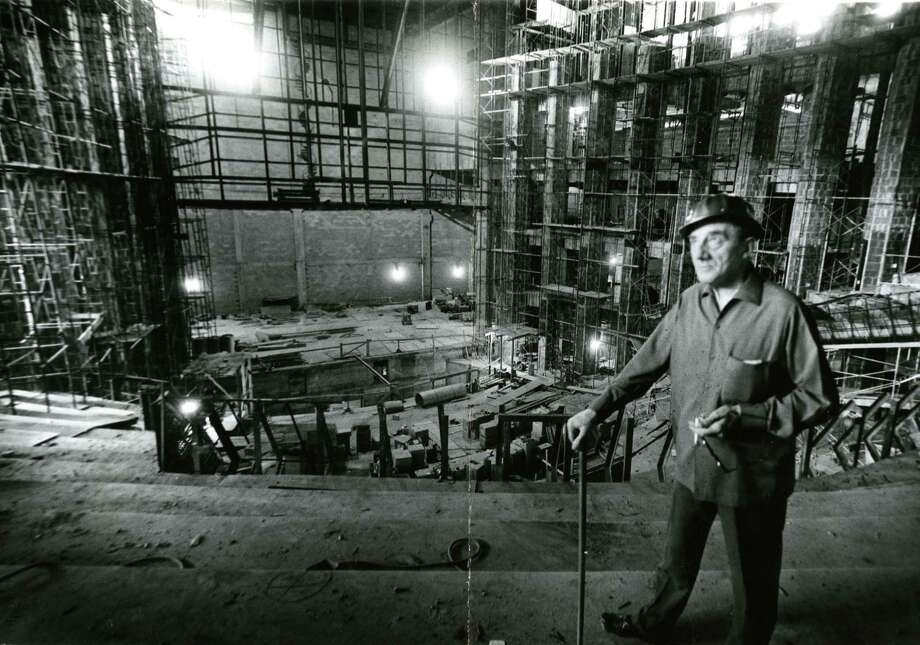In October 1965, Sir John Barbirolli visits Jesse H. Jones Hall for the Performing Arts construction site.See more photos of the performance hall as it was being constructed in downtown Houston... Photo: File  / Houston Chronicle
