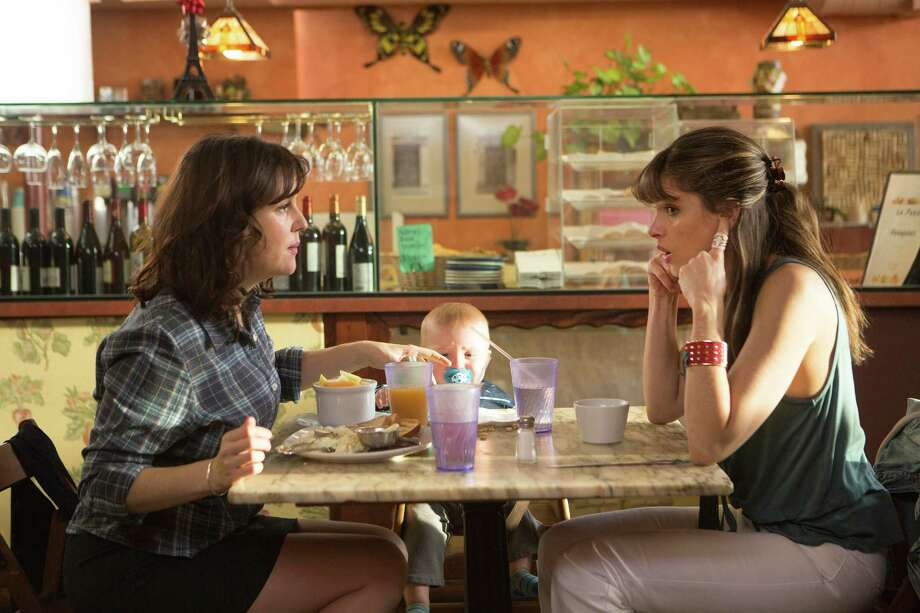 "You might be shocked to know what Melanie Lynskey (left) and Amanda Peet are talking about in ""Togetherness."" (And there's a baby at the table). Photo: HBO / HBO"