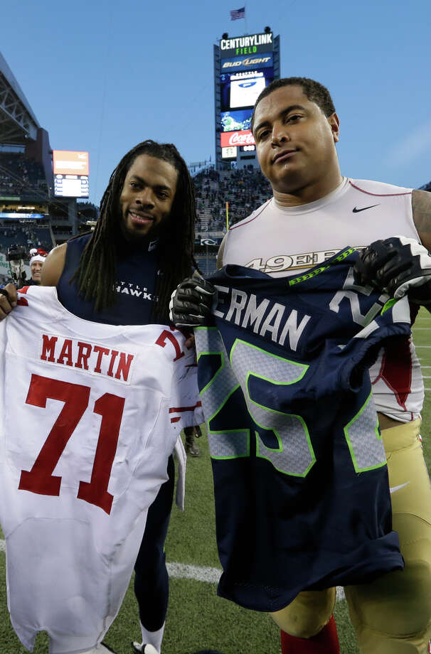 Jonathan Martin struggled at right tackle. Photo: Elaine Thompson / Associated Press / AP