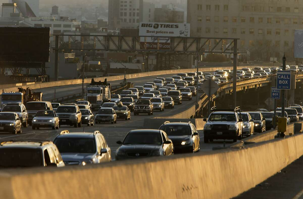 Eastbound Interstate 80 freeway out of San Francisco, Calif., as seen on Friday January 9, 2015, which is now the newly crowned worst commute in the Bay Area.