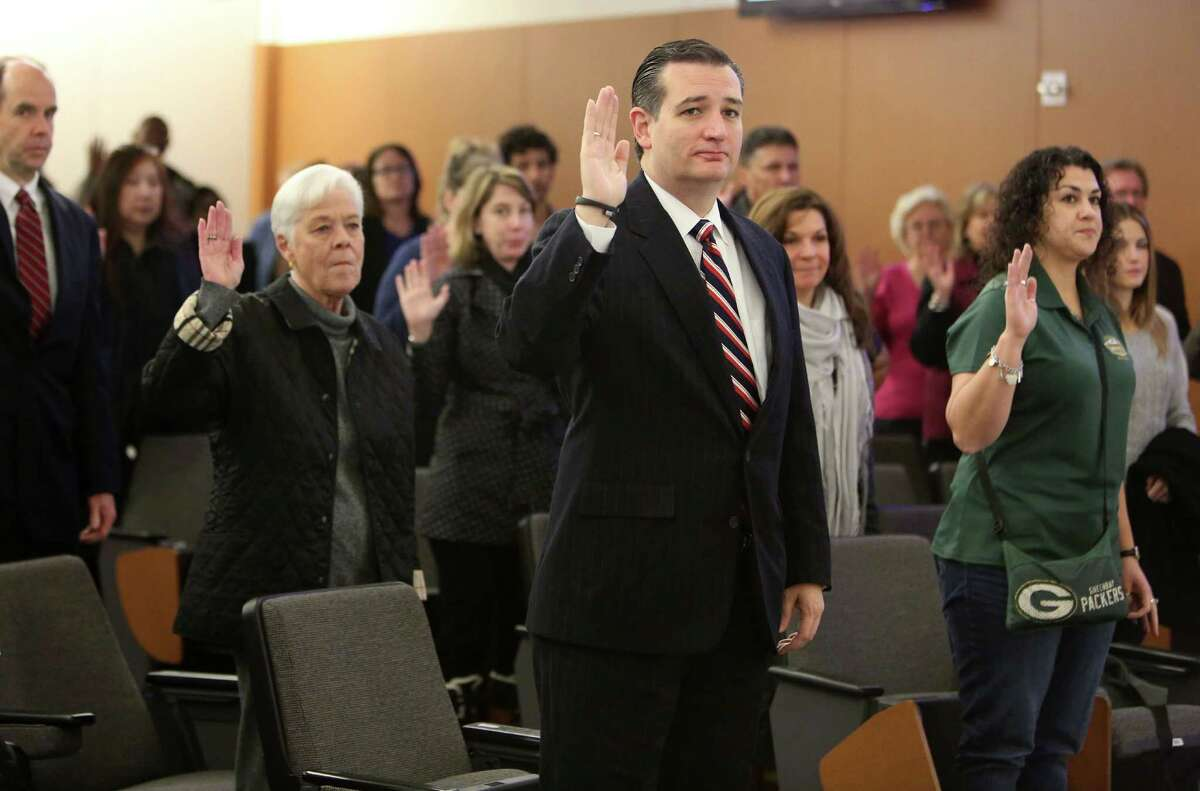 After reporting for jury duty Friday, U.S. Sen. Ted Cruz mingled with fellow Houstonians and showed signs of softening his rhetoric.