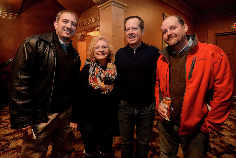 "From left, Dave Stovall, Kristi Dodd, Kyle Hayes, and Chris Boone were among the movie fans to take in the showing of ""The Godfather"" at the Jefferson Theatre. The event is part of the theater's Classic Movie Night series.