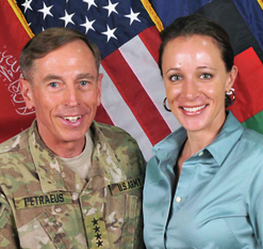 Gen. David Petraeus with biographer, and lover, Paula Broadwell in 2011. Photo: INTERNATIONAL SECURITY ASSISTANC / New York Times / NATO