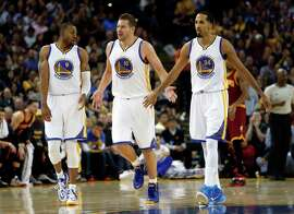 Andre Iguodala (from left), David Lee and Shaun Livingston are among bench players Golden State can insert and still thrive.