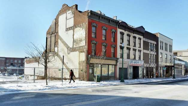 Buildings on the south side of lower State Street Thursday Jan. 8, 2015, in Schenectady, NY.  (John Carl D'Annibale / Times Union) Photo: John Carl D'Annibale / 00030128A