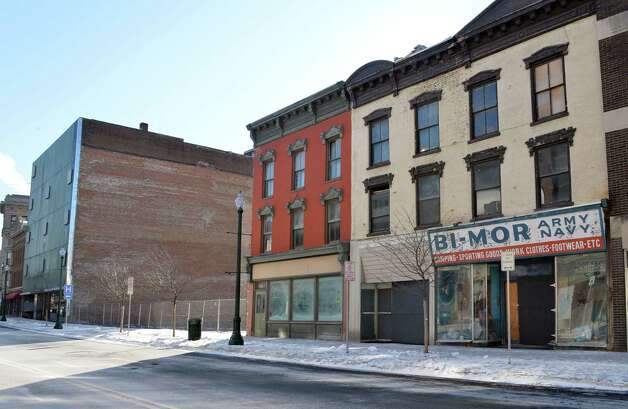 Bi-Mor Army Navy store and others on the south side of lower State Street Thursday Jan. 8, 2015, in Schenectady, NY.  (John Carl D'Annibale / Times Union) Photo: John Carl D'Annibale / 00030128A