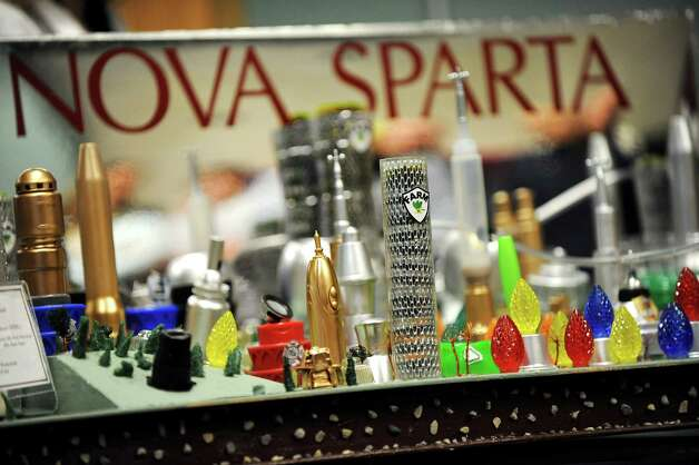 O'Rourke Middle School students' futuristic city, Nova Sparta, at the National Engineers Week Future City Competition on Saturday, Jan. 10, 2015, at Proctors Theatre in Schenectady, N.Y. (Cindy Schultz / Times Union) Photo: Cindy Schultz / 00030088A